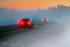 Die Nebelschlussleuchte darf nur bei einer Sichtweite unter 50 Metern eingeschaltet werden.