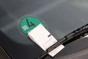 Strafzettel beim Parken